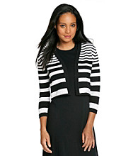 Calvin Klein Striped Sweater Shrug