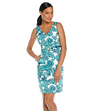 Tahari by Arthur S. Levine® Cotton Sateen Paisley Dress