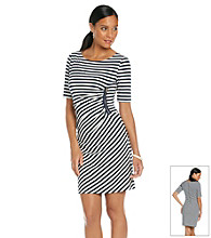 Tahari by Arthur S. Levine® Stripe Side Zipper Dress