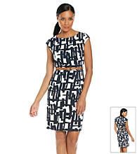 Tahari by Arthur S. Levine® Pique Geo Print Dress