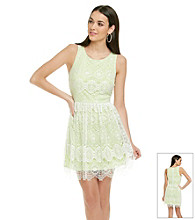 Betsey Johnson® Lace Overlay Dress