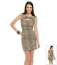 Betsey Johnson® Animal Print Ruched Dress