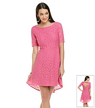 Betsey Johnson® Hi-Low Floral Lace Dress