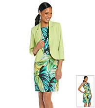 Perceptions Print Dress With Jacket