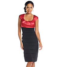 Sangria® Satin Pleat Shutter Dress