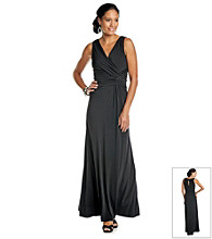 Sangria® Beaded Surplice Long Dress