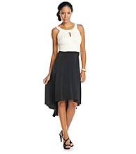 Sangria® High-Low Halter Dress