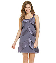 S.L. Fashions Petites' Chiffon Tiered Dress