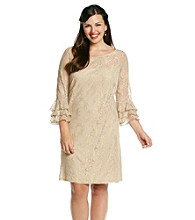 Jessica Howard® Plus Size Lace Flutter Dress