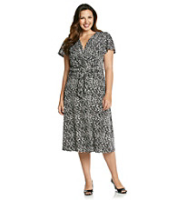 Jessica Howard® Plus Size Surplus Print Knit Dress