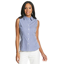 Evan-Picone® Easy Care Printed Woven Shirt