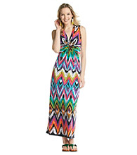 NY Collection Print Knit Maxi Dress