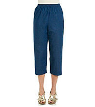 Alfred Dunner® Stretch Waistband Classic Denim Capri