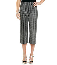 Briggs New York® Traditional Waistband All Over Print Crop Pants
