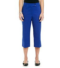 Briggs New York® Traditional Waistband Solid Crop Pant