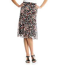 Notations® Pull On Printed Skirt