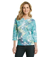 Breckenridge® Petites' Notch Neck Sublimation Tee