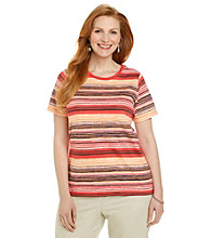 Studio Works® Plus Size Short Sleeve Printed Crewneck Tee