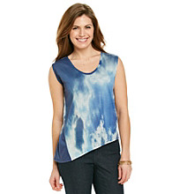 DKNY JEANS® Cloud Print Asymmetrical Top