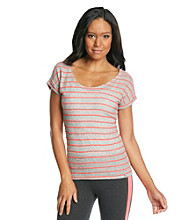 Marc New York Andrew Marc® Performance Striped Hi-Lo Tee
