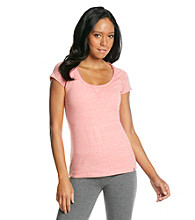 Marc New York Andrew Marc® Performance Heather Scoopneck Tee