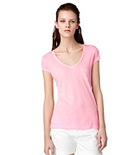 Calvin Klein Jeans Solid Basic Short Sleeve V-Neck Tee