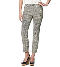 Jones New York Sport® Animal Print Cropped Jeans