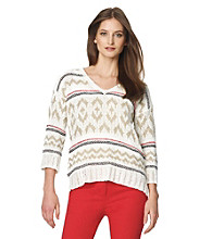 Jones New York Sport® Jacquard Sweater