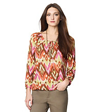Jones New York Sport® Scoopneck Printed Blouse