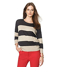 Jones New York Sport® Block Stripe Sweater