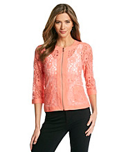 Spense® Two Pocket Lace Jacket