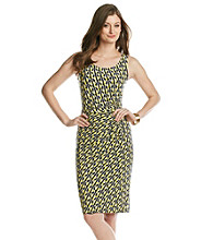 Anne Klein® Geometric Stripe Printed Dress