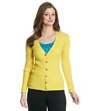 Anne Klein® V-Neck Cardigan