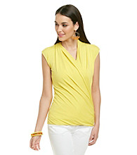 Vince Camuto® Faux Wrap Top