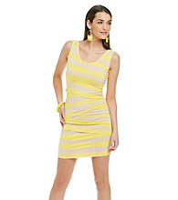 Vince Camuto® Zig-Zag Bandage Stripe Tank Dress