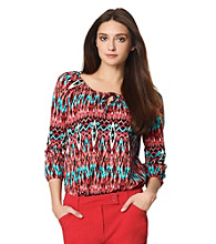 Jones New York Sport® Petites' Printed Peasant Top