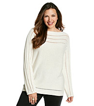 Jones New York Signature® Plus Size Boatneck Sweater
