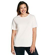Jones New York Signature® Plus Size Ribbed Tee