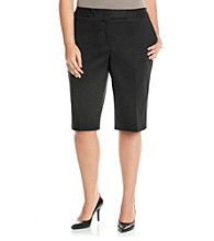 Jones New York Signature® Plus Size Refined Twill Bermuda Shorts