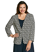Black Rain™ Plus Size Printed Jacket