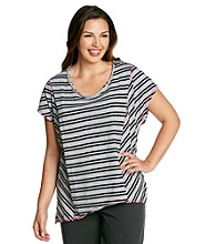 Calvin Klein Performance Plus Size Highway Stripe Boxy Tee