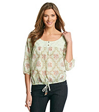 Nine West Vintage America Collection® Petites' Hanna Lace Peasant Top