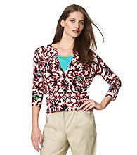 Jones New York Sport® Petites' Printed Buttonfront Cardigan