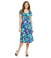 Notations® Petites' Honolulu Print Dress
