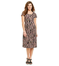 Notations® Petites' Honolulu Ditsy Print Dress