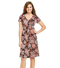 Notations® Petites' Overflow Print Dress
