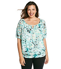 AGB® Plus Size Lace Top