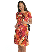 Three Seasons Maternity™ Printed Side-Tie Dress