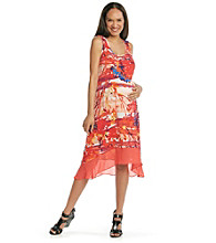 Three Seasons Maternity™ Printed High-Low Dress