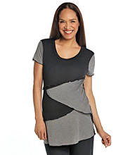 Three Seasons Maternity™ Short Sleeve Multi Tier Top